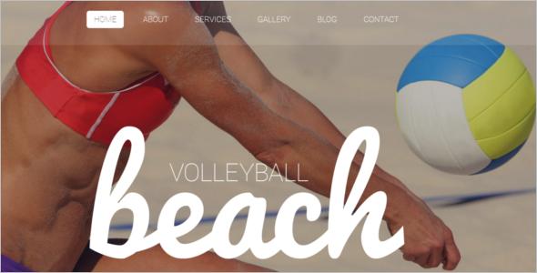 Beach Volleyball WordPress Theme