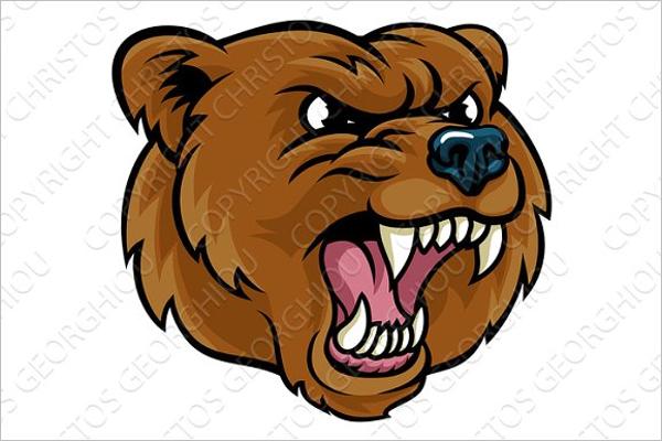Bear Cartoon Photo Template