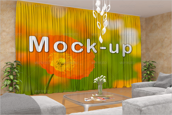 Beautiful Curtain Mockup Template