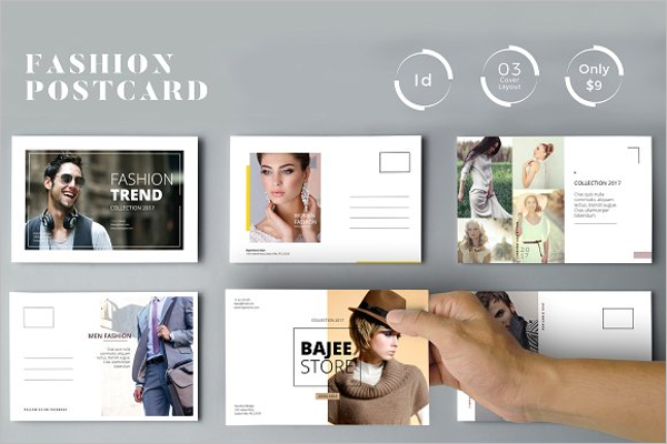 Beauty Advertisement Postcard Template