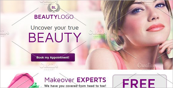 Beauty Center Landing Page Template
