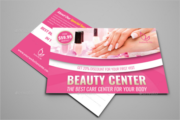 Beauty Center Postcard PSD Template