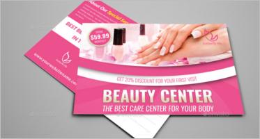 Beauty Center Postcard Templates