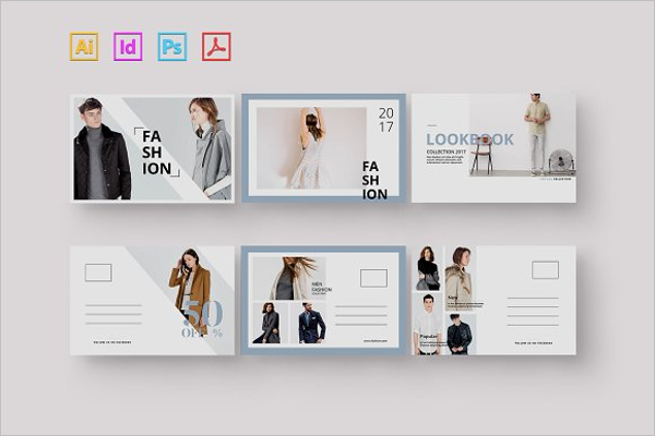 Beauty Fashion Postcard Template
