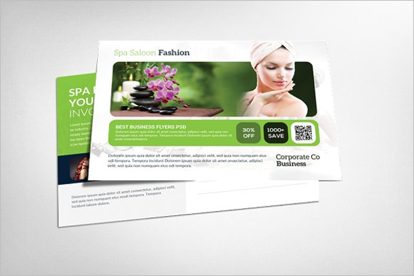 Beauty Saloon Center Postcard Template