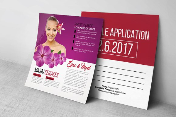Beauty Spa Massage Post Card Template