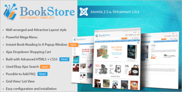 Best Books Store VirtueMart Template
