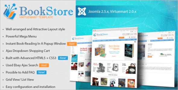 Best Books Store VirtueMart Template