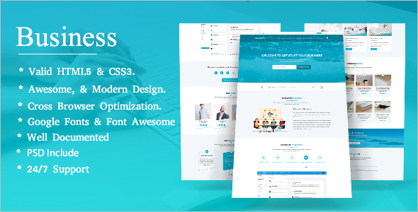 Best Business Landing Page Template
