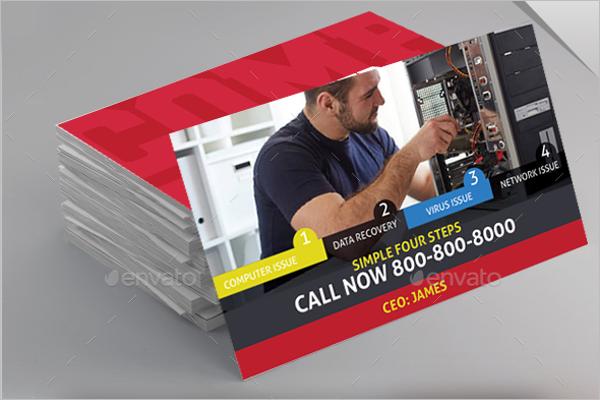 Best Computer Repair Service Business Card
