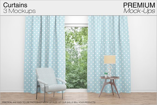 Best Curtain Mockup Template