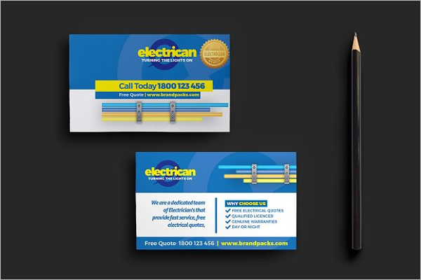Best Electrician Business Card Template