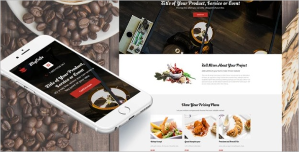 Best Food Landing Page Template
