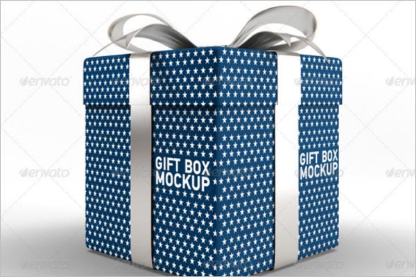 Best Gift Box Mockup Design