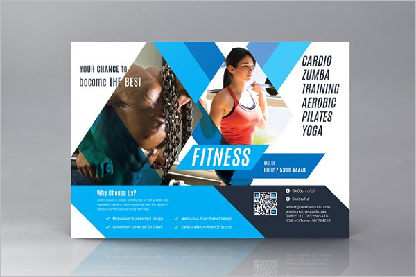 Gym Business Card Templates Free Premium Creative Template - Fitness business card template