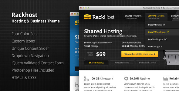Best Hosting PHP Theme