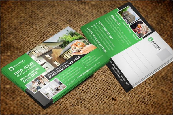 Best Real Estate Postcard Design