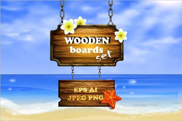 Best Vector Wooden Board Template