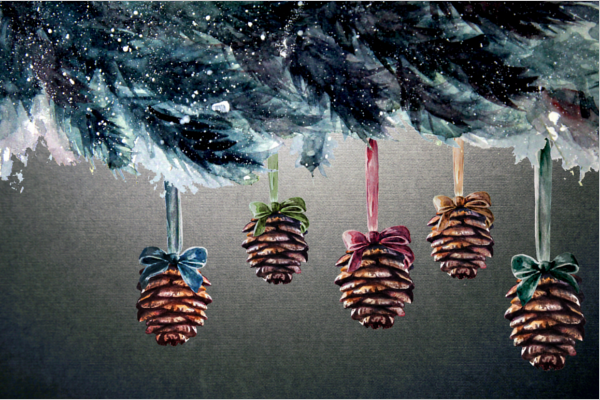 Best WaterColour Christmas Template