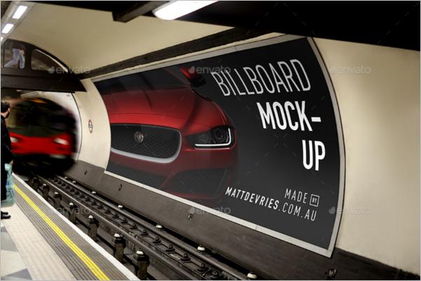 Billboard PSD Mockup Vector Design
