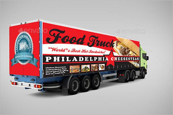 Billboard Truck Mockup Template