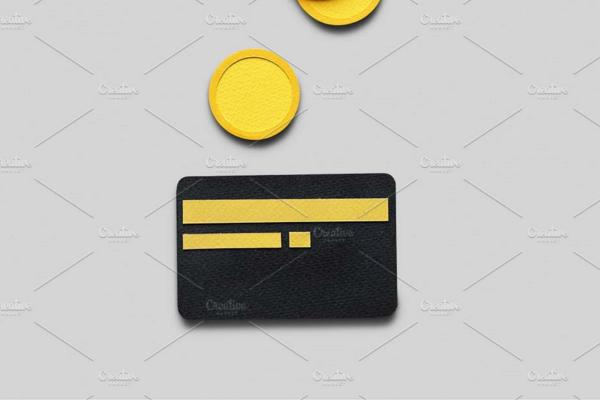 Black BankCredit Card Mockup Design