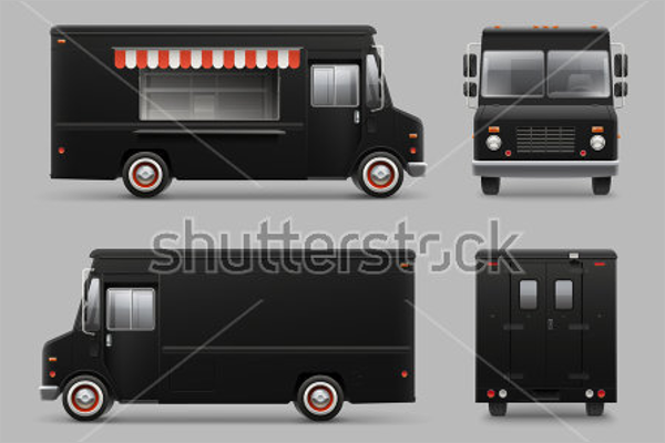63 truck mockup templates free psd designs creative for Design your own food truck online