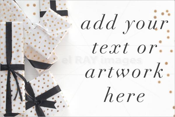 Black & White Gift Box Design Mockup