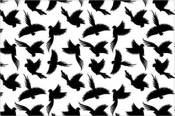 Black birds Wildlife pattern