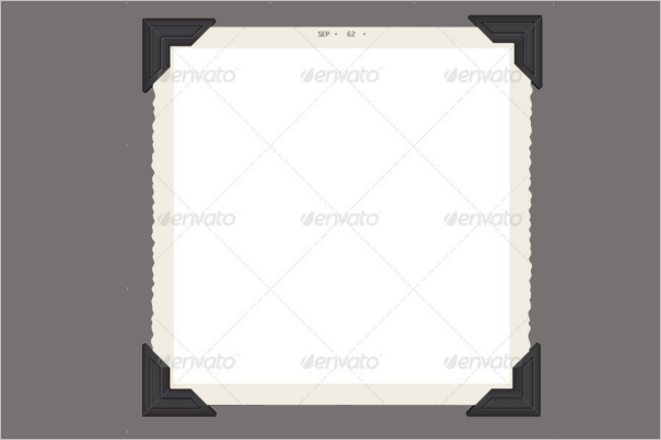 Blank Antique Frame Template