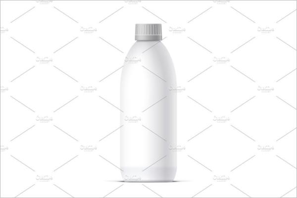 Blank Realistic bottle Mockup
