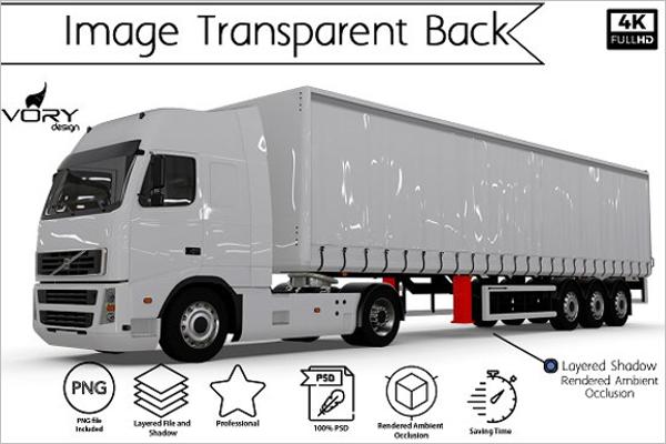 Blank Truck Mockup Template