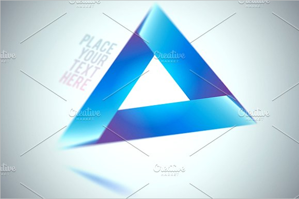 Blue Triangle Shape Template