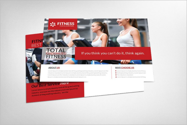 Bodybuilding Postcard Template