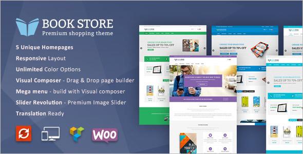 Book Store WordPress WooCommerce Template