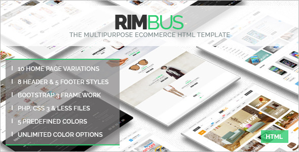 Bootstrap PHP eCommerce Theme