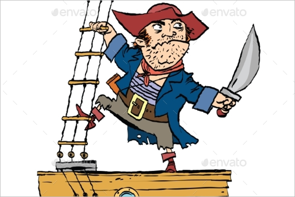 Brave Pirate On Ship Design