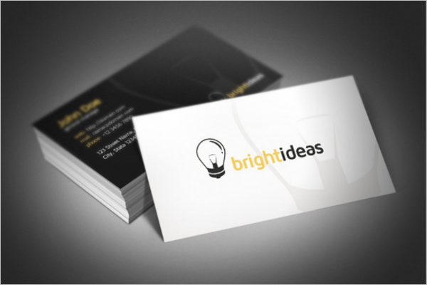 Bright Ideas Electric Business Card Template