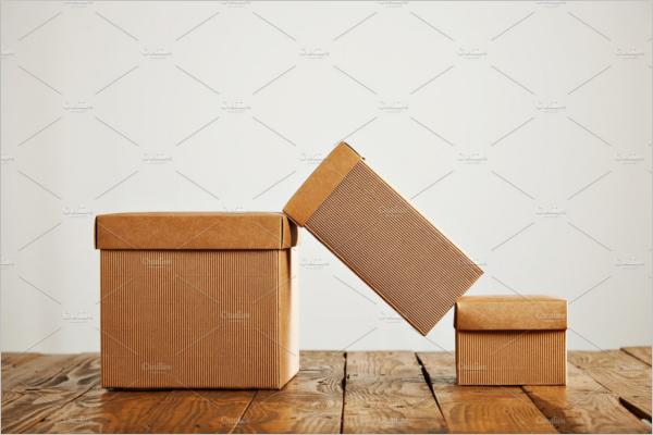 Brown Paper Gift Box MockUp Design
