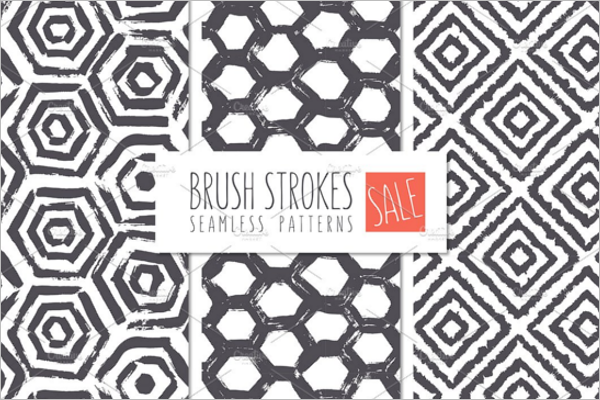 Brush Strokes Seamless Patterns