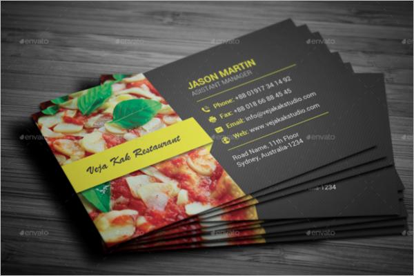 Burger Business Card Designs