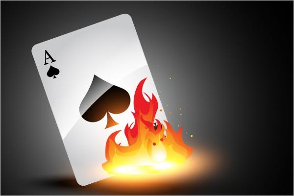 Burning Playing Card Mock up