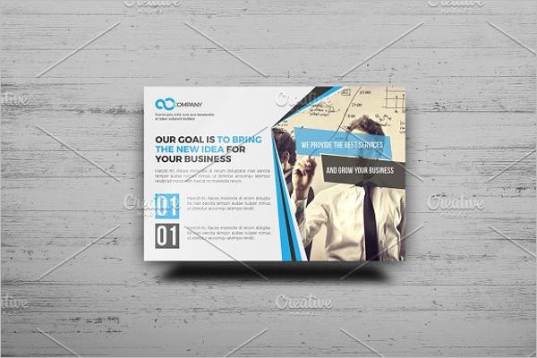 Business Construction Postcard Design