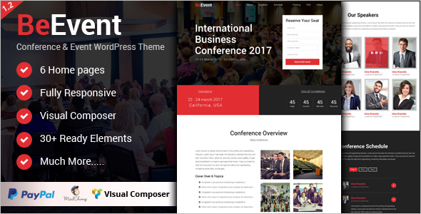 Business Events WordPress Theme