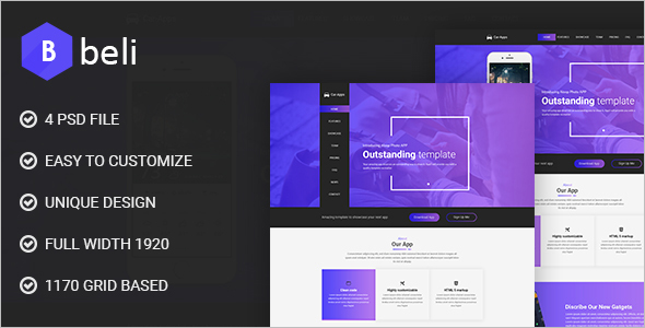 Business Landing PSD Template