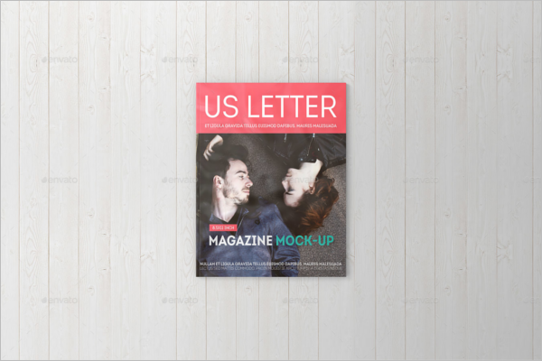 Business Letter Magazine Mockup