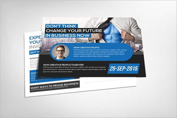 Business Security Postcard Template