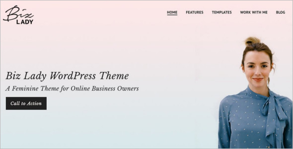 Business landing Page WordPress Template