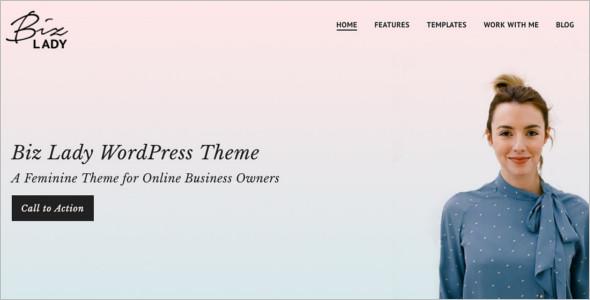 Business landing Page WordPress Template