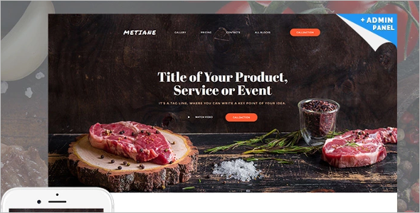 Cafe & Restaurant Landing Page Theme